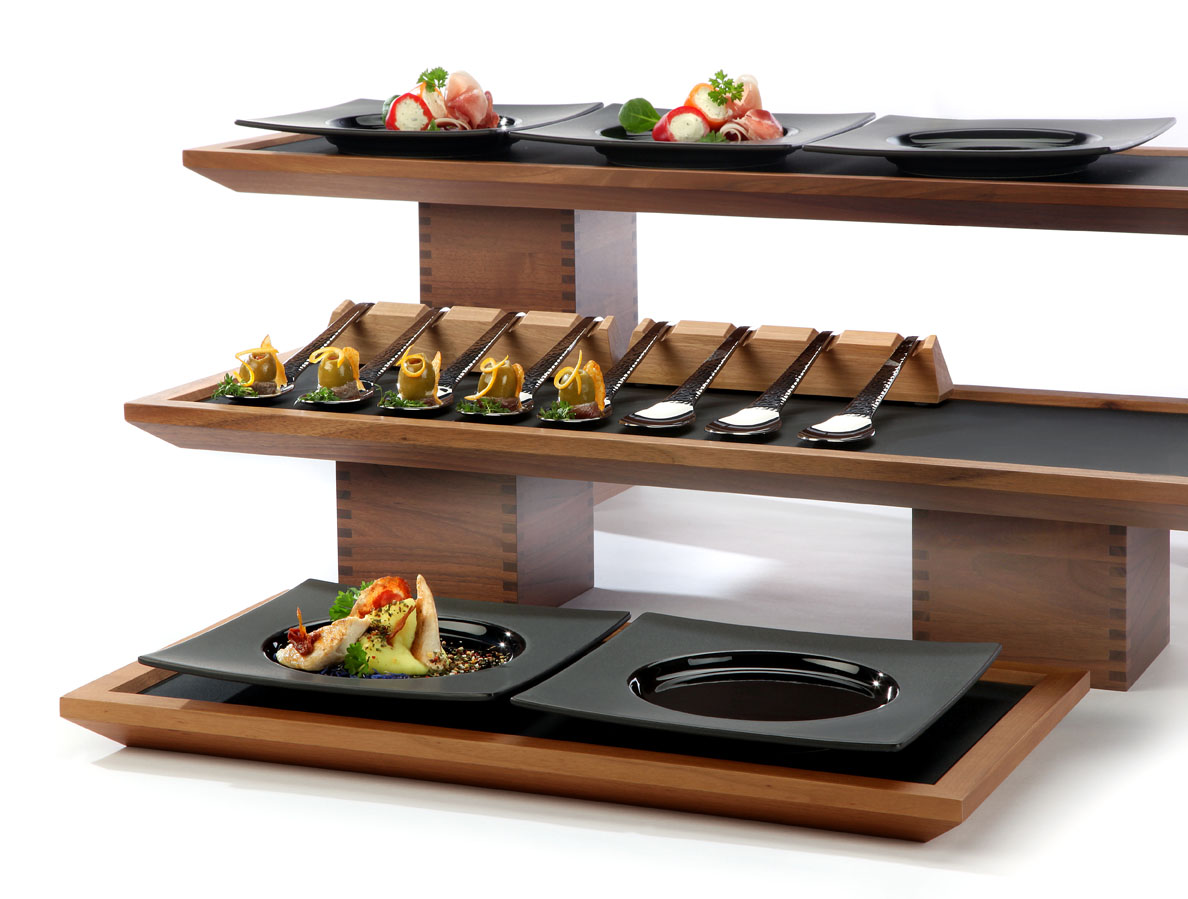 Wood Elevation For Buffet : Zieher cruet stands trays more